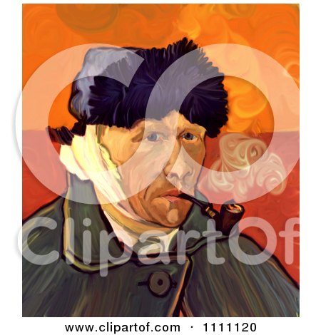 Revision Of Goghs 1889 Self Portrait With Bandaged Ear Posters, Art Prints
