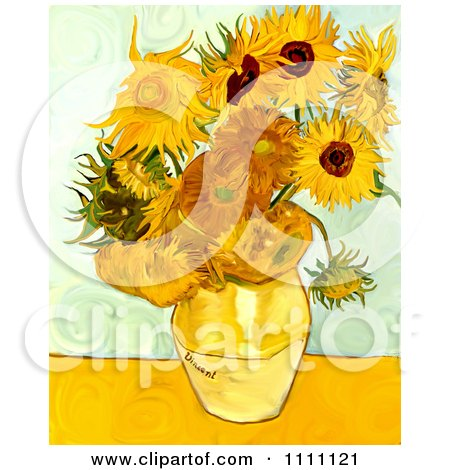 Revision Of Goghs Sunflowers Posters, Art Prints