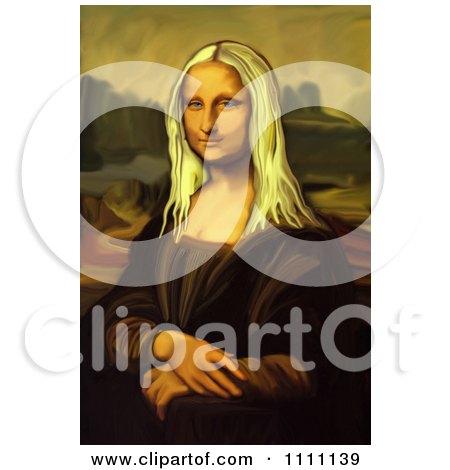 Clipart Blond Mona Lisa Portrait - Royalty Free Illustration by Prawny Vintage