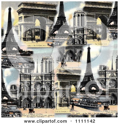 Clipart Collage Of Photochrome Paris Architecture - Royalty Free Photo by Prawny Vintage