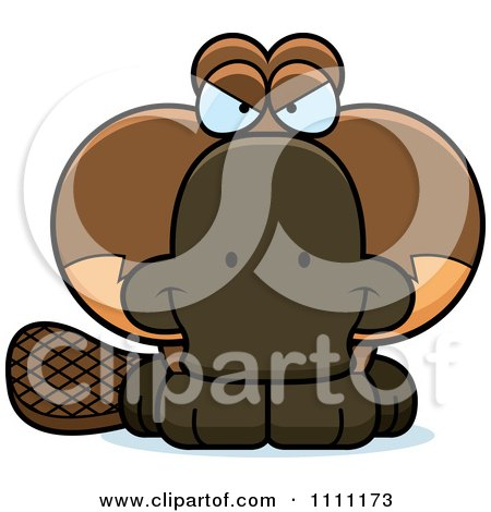 Clipart Cute Sly Platypus - Royalty Free Vector Illustration by Cory Thoman