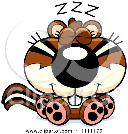 Clipart Cute Sleeping Chipmunk - Royalty Free Vector Illustration by Cory Thoman