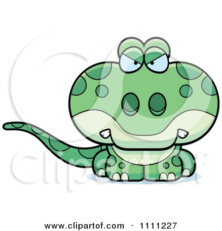 Clipart Cute Angry Gecko Lizard - Royalty Free Vector Illustration by Cory Thoman