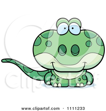 Clipart Cute Gecko Lizard - Royalty Free Vector Illustration by Cory Thoman