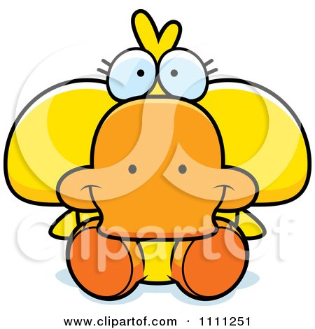 Clipart Cute Sitting Duck - Royalty Free Vector Illustration by Cory Thoman