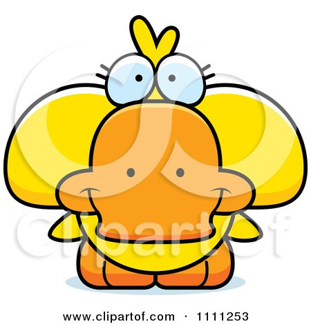 Clipart Cute Duck - Royalty Free Vector Illustration by Cory Thoman
