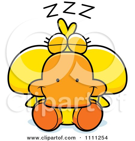 Clipart Cute Sleeping Duck - Royalty Free Vector Illustration by Cory Thoman