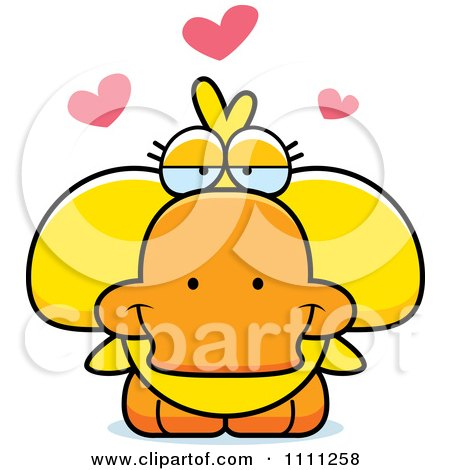 Clipart Cute Amorous Duck - Royalty Free Vector Illustration by Cory Thoman