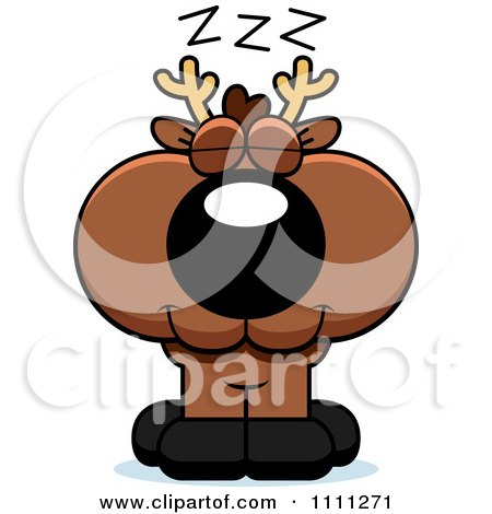 Clipart Cute Sleeping Deer Fawn - Royalty Free Vector Illustration by Cory Thoman