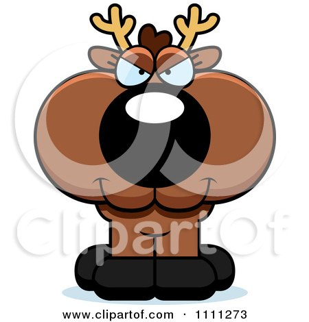 Clipart Cute Sly Deer Fawn - Royalty Free Vector Illustration by Cory Thoman