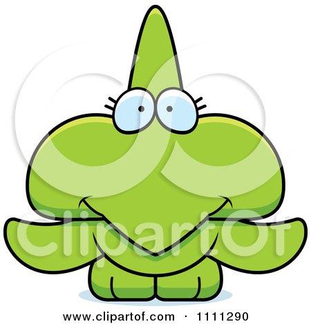 Clipart Cute Happy Pterodactyl Dinosaur - Royalty Free Vector Illustration by Cory Thoman