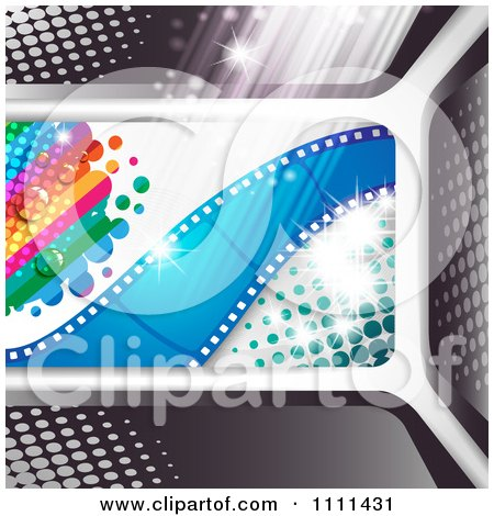 Clipart Movie Film Strip Cinema Background 1 - Royalty Free Vector Illustration by merlinul