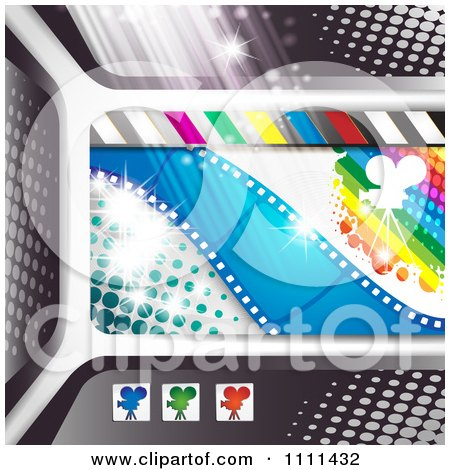Clipart Movie Film Strip Cinema Background 2 - Royalty Free Vector Illustration by merlinul