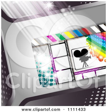 Clipart Movie Film Strip Cinema Background 3 - Royalty Free Vector Illustration by merlinul