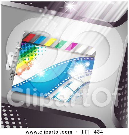 Clipart Movie Film Strip Cinema Background 7 - Royalty Free Vector Illustration by merlinul