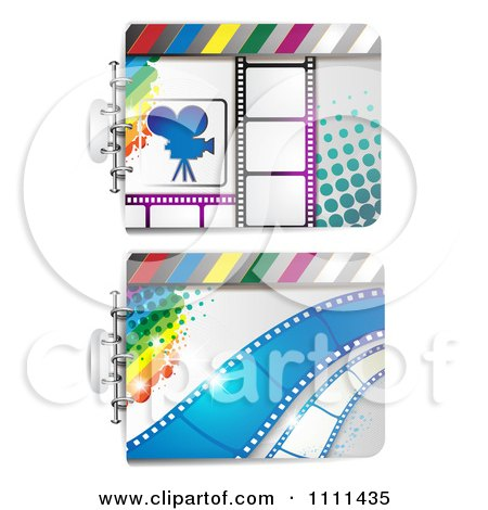 Clipart Movie Film Strip Cinema Backgrounds 1 - Royalty Free Vector Illustration by merlinul