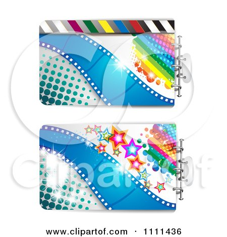 Clipart Movie Film Strip Cinema Backgrounds 2 - Royalty Free Vector Illustration by merlinul