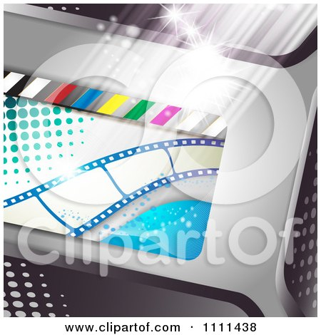 Clipart Movie Film Strip Cinema Background 4 - Royalty Free Vector Illustration by merlinul