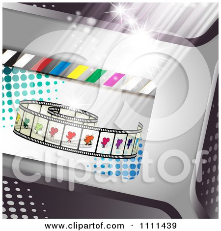 Clipart Movie Film Strip Cinema Background 5 - Royalty Free Vector Illustration by merlinul
