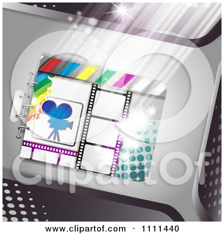 Clipart Movie Film Strip Cinema Background 6 - Royalty Free Vector Illustration by merlinul