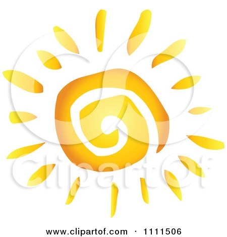 Clipart Spiral Sun - Royalty Free Vector Illustration by Hit Toon