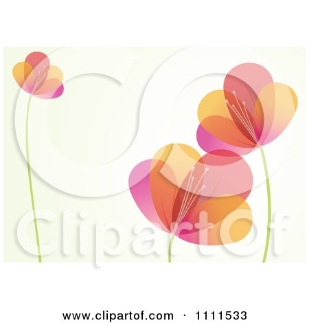 Clipart Colorful Flower Background With Copyspace 1 - Royalty Free Vector Illustration by BestVector
