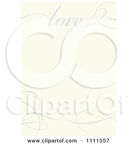 Clipart Gray Love And Swirl Frame On Beige - Royalty Free Vector Illustration by BestVector
