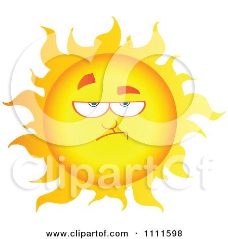Grumpy Sun Mascot 1 Posters, Art Prints
