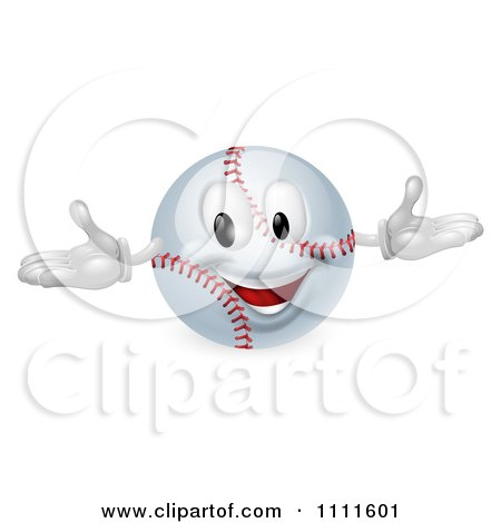 Clipart 3d Happy Baseball Mascot - Royalty Free Vector Illustration by AtStockIllustration