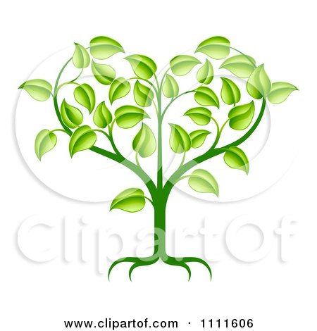 Green Seedling Plant With Foliage Forming A Heart Posters, Art Prints