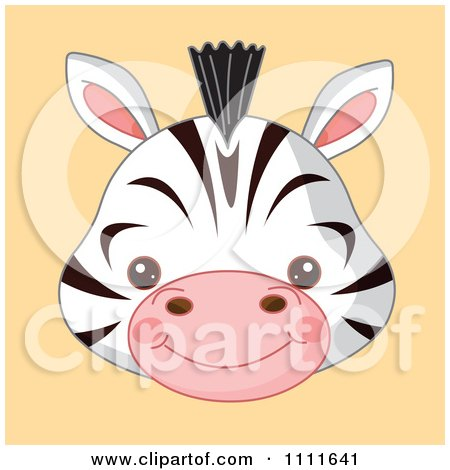 the gallery for gt zebra face clipart