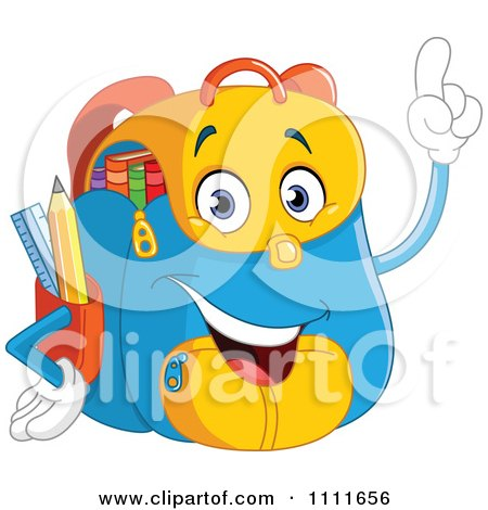 Happy School Backpack With An Idea Posters, Art Prints
