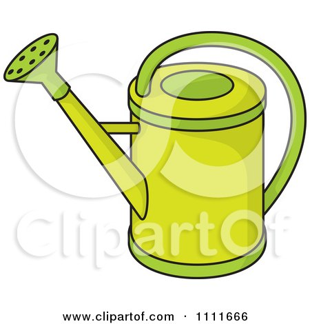 Clipart Green Watering Can - Royalty Free Vector Illustration by Any Vector
