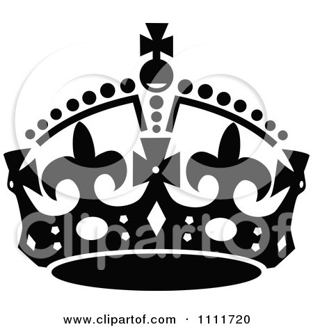 Royal Crown Clipart Black And White Royal Crown in Black And White
