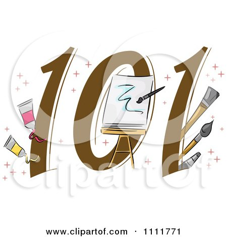 Clipart Painting 101 Icon - Royalty Free Vector Illustration by BNP Design Studio