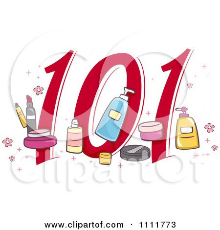 Clipart Makeup 101 Icon - Royalty Free Vector Illustration by BNP Design Studio