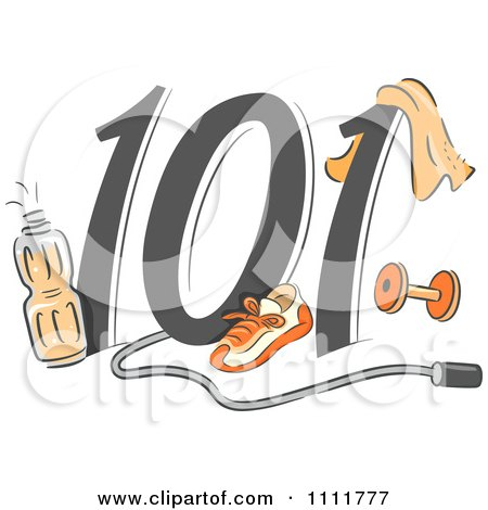 Clipart Exercising 101 Icon - Royalty Free Vector Illustration by BNP Design Studio