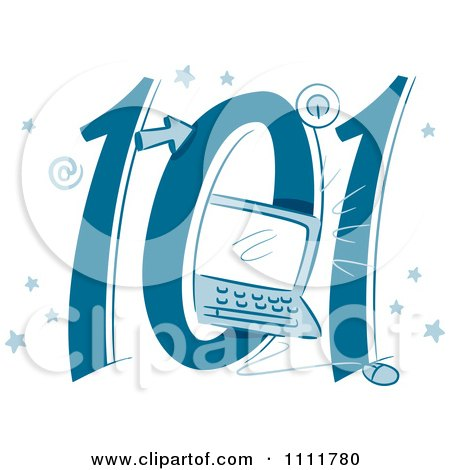 Clipart Computers 101 Icon - Royalty Free Vector Illustration by BNP Design Studio