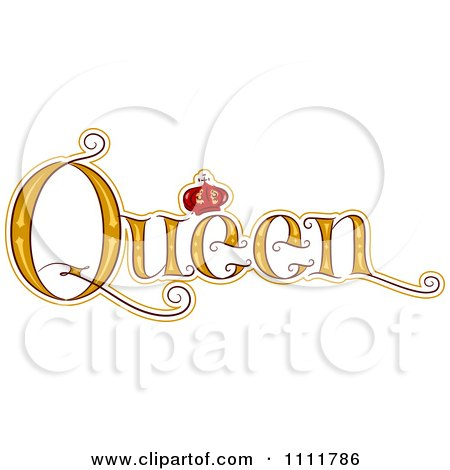Words In Bubble Letters With A Crown