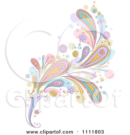 Clipart Pastel Paisley Design Element - Royalty Free Vector Illustration by BNP Design Studio