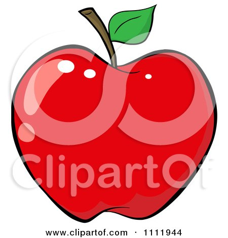 Clipart Red Apple 2 - Royalty Free Vector Illustration by Hit Toon