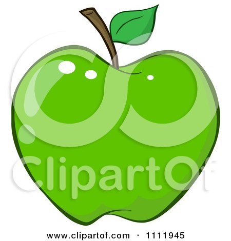Clipart Green Apple 3 - Royalty Free Vector Illustration by Hit Toon
