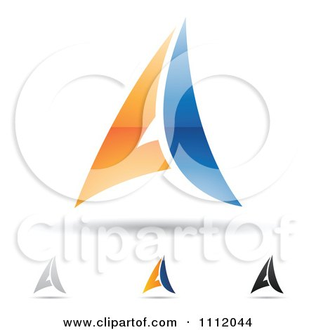 Clipart Abstract Letter A Icons With Shadows 3 - Royalty Free Vector Illustration by cidepix