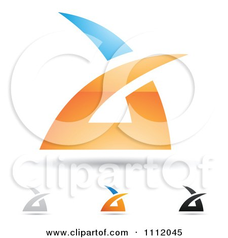 Clipart Abstract Letter A Icons With Shadows 1 - Royalty Free Vector Illustration by cidepix
