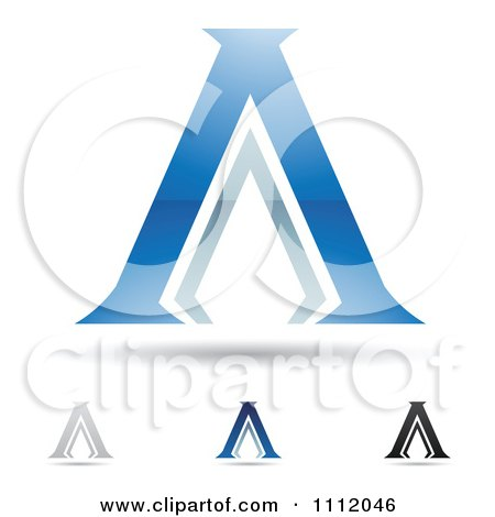 Clipart Abstract Letter A Icons With Shadows 2 - Royalty Free Vector Illustration by cidepix