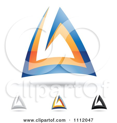 Clipart Abstract Letter A Icons With Shadows 5 - Royalty Free Vector Illustration by cidepix