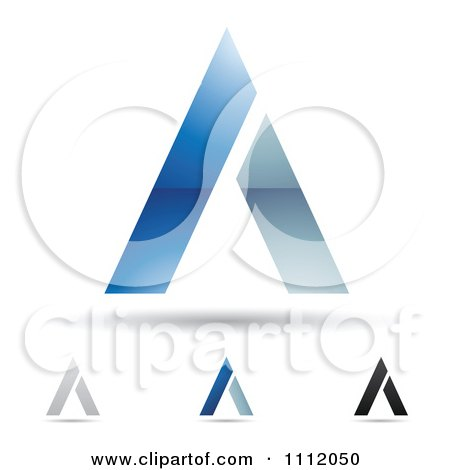 Clipart Abstract Letter A Icons With Shadows 8 - Royalty Free Vector Illustration by cidepix