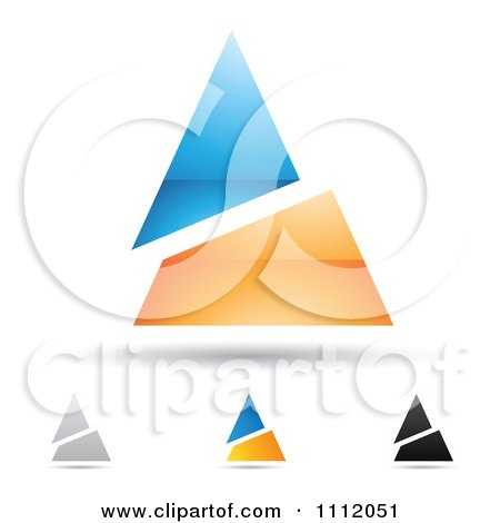 Clipart Abstract Letter A Icons With Shadows 9 - Royalty Free Vector Illustration by cidepix