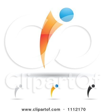 Clipart Abstract Letter I Icons With Shadows 9 - Royalty Free Vector Illustration by cidepix