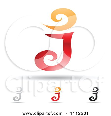 Clipart Abstract Letter J Icons With Shadows 7 - Royalty Free Vector Illustration by cidepix